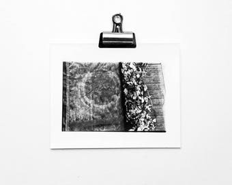 Alone, Nature vs Manmade, Black and White, Handprinted in Darkroom, Silver Gelatin 8x10 Print, Abstract Photography