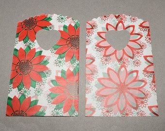 lot 50 pouches sachet bags plastic fancy 14 x 9 flower gift bag, jewelry