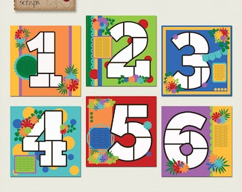 Count On Me Templates - pack1