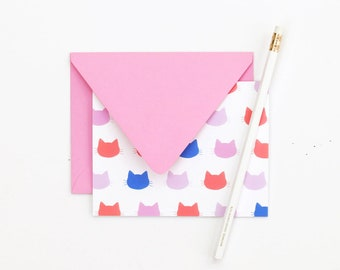 Cat Stationary Set Cat Thank You Notes Gifts for Cat Lovers Blank Note Cards Stationery for Girls Cat Pattern Stationery Cat Note Cards