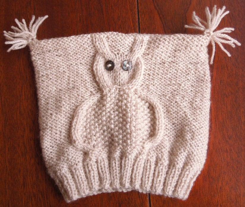 Fantastic Owl Hat Pattern Knit Model - Decke Stricken Muster ...