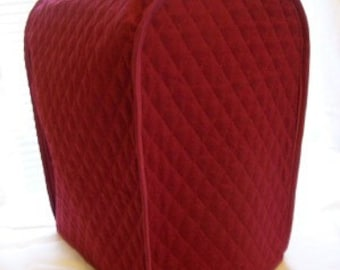 Burgundy Coffee Maker Keurig Cover Quilted Fabric Single Brew Machine Small Appliance Covers Made to Order