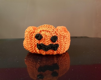 Crocheted Halloween Pumpkin