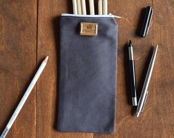 canvas zip pouch, pencil pouch, pencil case canvas bag, accessories pencil case, canvas pouch, zipper pouch, zip pouch, zipper pouch