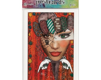 """Dyan Reaveley's Dylusions Postcard Images 4""""X6"""""""