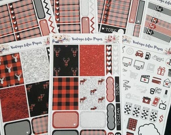 Buffalo Plaid Planner Sticker Set: Perfect for Erin Condren, Happy Planner, and many other life planners!