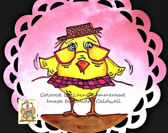 1125 Hattie Chick Digi Stamp