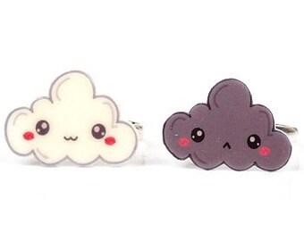 Kawaii Cloud Happy Sad Ring