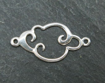 Sterling Silver Cloud Connector 15mm