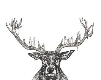Deer Chandelier 8 x 10 print