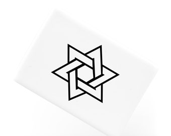 Ceramic Fridge Magnet, Star of David Jewish and Judaism Symbol Hexagram, Funny Fridge Magnets, Refrigerator Magnet, FM143