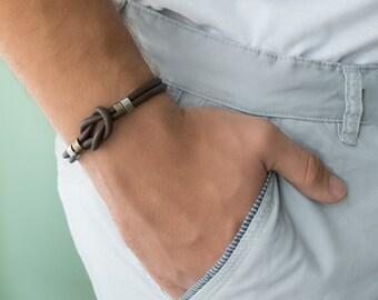 Men's Bracelet - Men's Leather Bracelet - Men's Celtic Bracelet - Men's Jewelry - Men's Gift - Boyfriend Gift - Husband Gift - Guys Gift