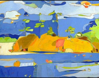 Freedom Island Canvas Print by Jennifer Mercede 30X40