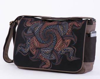 Canvas Messenger Bag, Laptop Messenger Bag, 13 inch, 15 inch, Laptop Bag, Mens Messenger Bag, Womens Messenger Bag