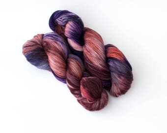 """Shades of Love colorway on my """"Comfort"""" base/434 yards of fingering weight"""