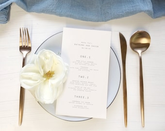 Editable Printable Menu - Hawaii Calligraphy