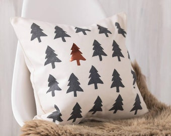 Copper Tree Cushion Pillow