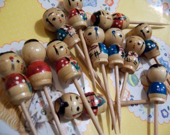 little wooden candle holder cake toppers