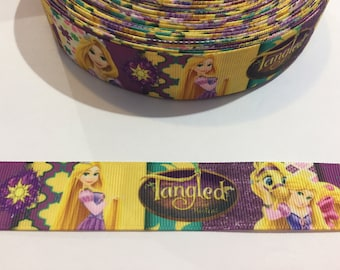 3 Yards of 1 inch wide Ribbon - Tangled with Rapunzel
