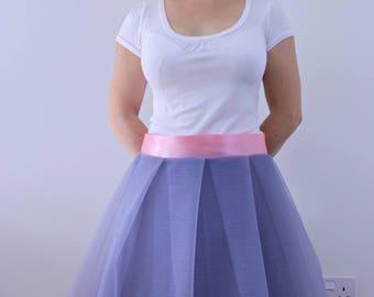 Grey tutu skirt for women, wrap skirt, tulle skirt, pleated tutu, party skirt, event skirt, bridesmaid, flowergirl skirt, ballet skirt adult