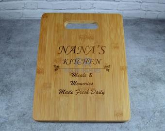 Personalized Medium Bamboo Cutting Board - Custom Cutting Board - Engraved Cutting Board - Medium Cutting Board