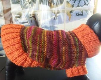 MEDIUM LONG DOG Sweater, Dog Clothes,Dog Birthday Present,Hand Knit Turtleneck Dog Sweater  # 541