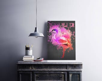 Flamingo wall art, Flamingo poster, Pink flamingo print, Flamingo art print, Flamingo gift, Flamingo watercolor, Flamingo wall decor