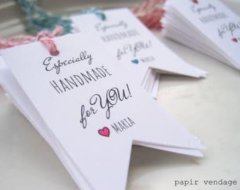 Tags affaires, personnalisés remercier Business Merci Tags, nom personnalisé entreprise Merci étiquettes, entreprise emballage, choisissez votre couleur Tags, étiquettes