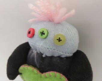 OZZY Monster Pocket Plush with lavender