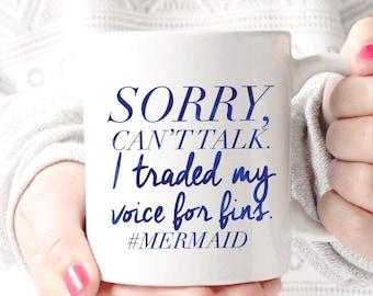 Sorry #Mermaid  Coffee Mug - Coffee Cup - Large Coffee Mug - Statement Mug - Sassy Mug - Large Mug - Funny Mug - Statement Mugs - Custom Mug