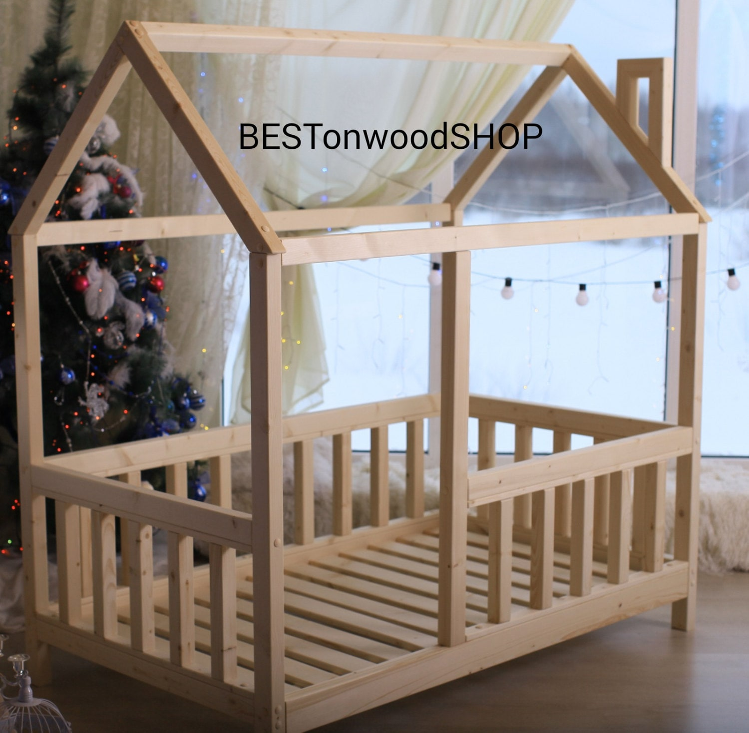 160708090cm. House Bed Tent Bed Wooden House Wood