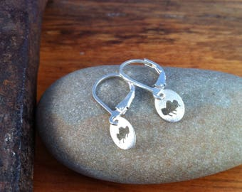 Tiny Raincloud Earrings - Sterling Silver