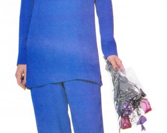 """Butterick 521 Womens Sewing Pattern Tunic Top and Straight Leg Pants Size 14-16-18 Bust 36-38-40"""""""
