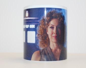 River Song Doctor Who Ceramic Coffee Mug