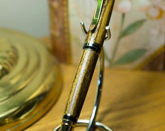 Hand crafted Cigar style pen made from Bacote wood