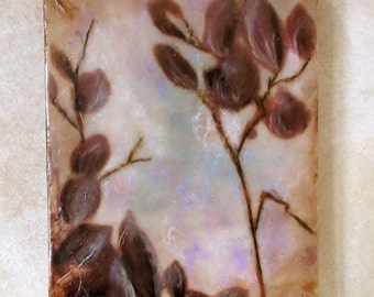 Original encaustic painting - Shadows on the wall
