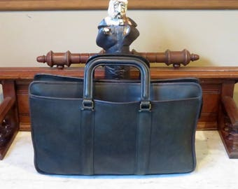 Etsy BDay Sale Coach Embassy Briefcase In Black Leather Made In The United States Style No 5090- VGC