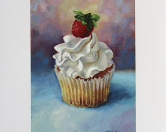 Print sale - Cupcake painting - Art print - Birthday - cupcake art - dessert art - kitchen art - Open edition print