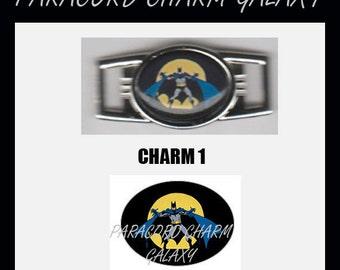 BATMAN Paracord Bracelet Charm Shoelace Charm Image 1