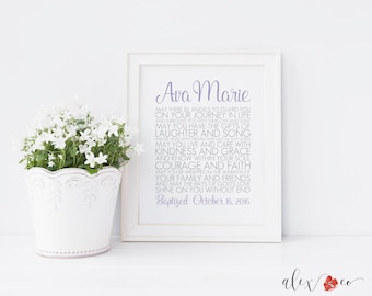 Baptism Printable. Personalized Baptism Gift. Baptism Gift Girl. Baptism Gifts for Girls. Christening Gifts. Baptism Print. Baptism Prayer.
