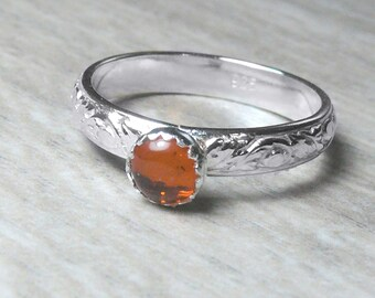 Sterling silver amber ring sterling silver ring sterling silver stacking ring gemstone stackable ring