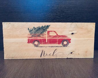 Wooden decoration. Christmas. Sign