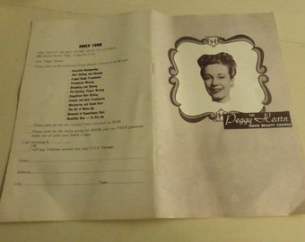 Vintage Advertising Booklet for Peggy Hearn Home Beauty Course