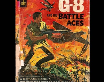 G-8 and his Battle Aces No. 1 - Gold Key Comic Book c. 1966