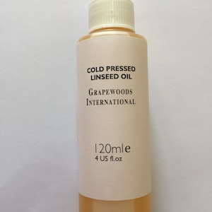 Cold pressed linseed oil (120ml)
