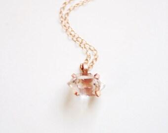 Herkimer Diamond Necklace | Herkimer Diamond Claw Necklace | Herkimer Necklace | Herkimer Jewelry | Raw Stone Necklace | Crystal Necklace