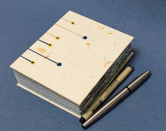 Handmade Coptic Bound Book - Yellow and Blue