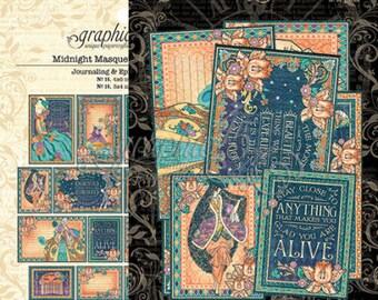 """Graphic 45 """"Midnight Masquerade"""" Ephemera and Journaling Cards"""