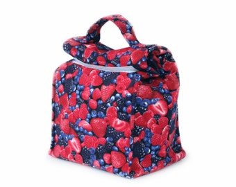 MTO Insulated lunch bag with handle - Berries