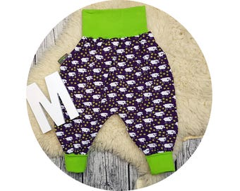 Baby, trousers, Jerseyhose, wax trousers, Pumphose, harem trousers, baby pants, flowers, sheep, baa
